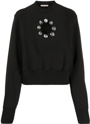 Christopher Kane Crystal Cut Out Sweatshirt