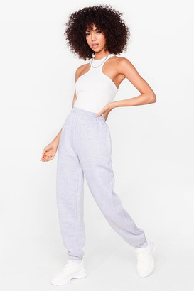 Nasty Gal Womens Run the World Stretch Joggers - Grey - S, Grey