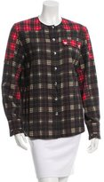 Givenchy Plaid Button-Up Top