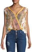 Free People Floral Sleeveless Top
