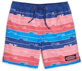 Vineyard Vines Boys' Striped Whale-Print Swim Trunks