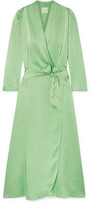 Forte Forte Forte_forte Hammered Silk-satin Wrap Dress
