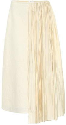 Jil Sander Cotton and wool midi skirt