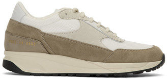 Common Projects White and Brown Track Classic Sneakers