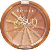 Rimmel Sunshimmer 3 in 1 Shimmering Bronzer Bronzing Powder