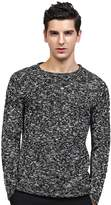 Insun Men's Crew Neck Slim Fit Knit Long Sleeve Pullover Sweater