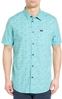 RVCA Men's Sea And Destroy Print Woven Shirt