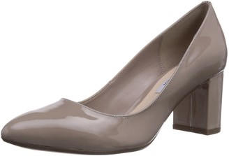 Clarks Blissful Cloud Womens Court Shoes Beige (Shingle Patent) 5.5 UK (39 EU)
