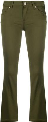 Liu Jo Mid-Rise Cropped Bootcut Trousers