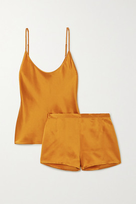 La Perla Silk-satin Pajama Set - Mustard