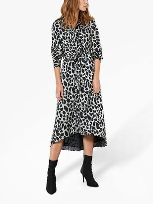 Mint Velvet Animal Midi Dress, Multi