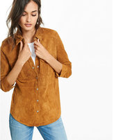 Express suede fitted shirt