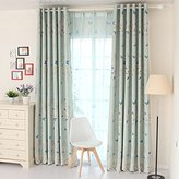 """LELVA Boys and Girls Bedroom Decoration Curtains Kids Room Curtains Thermal Insulated Blackout Panel Packet 2 Piece (W42"""" X L84"""", Blue)"""