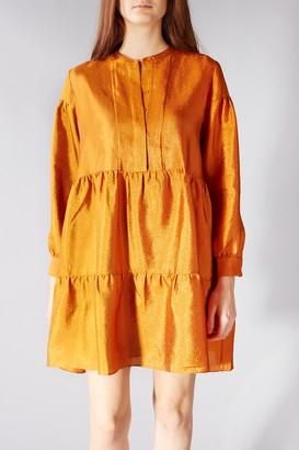 Samsoe & Samsoe Orange Margo Shirt Dress - XSMALL