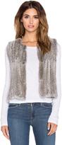 525 America Real Natural Rabbit Fur Vest