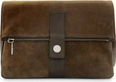 Brunello Cucinelli Suede and leather wash bag