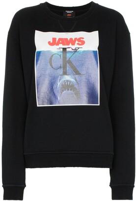 Calvin Klein Jaws Logo Cotton Sweatshirt