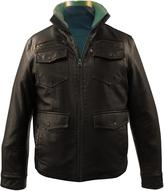 Levi's Men's Faux Leather Jacket With Sherpa Lining