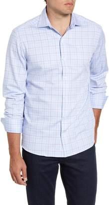 Bugatchi Shaped Fit Check Button-Up Sport Shirt