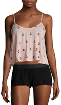 Wildfox Couture French Press Strappy Crop Camisole and Shorts Set