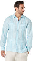 Cubavera 100% Linen Long Sleeve 4 Pocket Guayabera