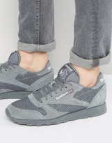 Reebok Classic Leather Knit Sneakers In Gray BD1649