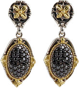 Konstantino Asteri Pave Black Diamond Double-Drop Earrings
