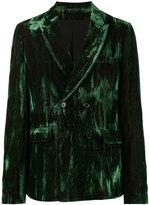 Ann Demeulemeester double breasted velvet blazer - men - Cotton/Acetate/Rayon - M