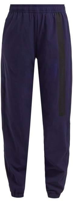 Calvin Klein Side Stripe Shell Track Pants - Womens - Navy Multi
