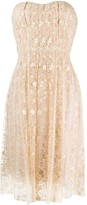 Blumarine strapless lace dress