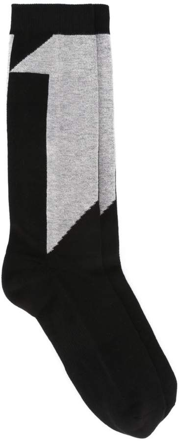 11 By Boris Bidjan Saberi number intarsia socks