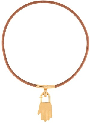 Hermes pre-owned Annee De La Main charm necklace