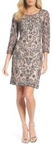 Pisarro Nights Women's Sequin Embroidered Sheath Dress