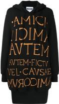 Moschino embroidered logo sweat dress