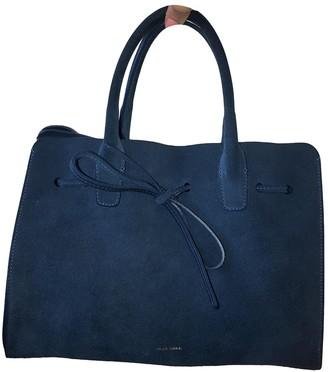Mansur Gavriel Blue Suede Handbags