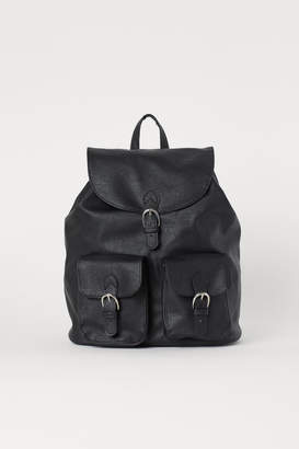 H&M Faux Leather Backpack - Black