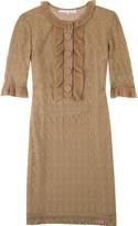 Lace-style shift dress