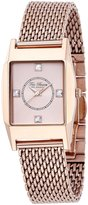 Ted Baker Women's TE4088 Modern Triple Rose Rectangle Analog Bracelet Watch