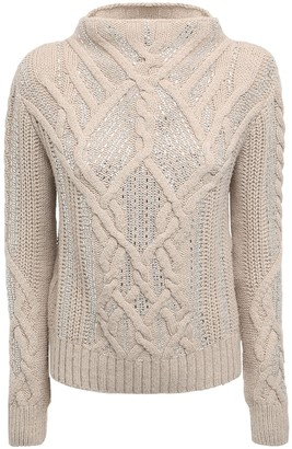 Ermanno Scervino Crystals Embellished Knit Turtleneck