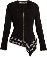 Roland Mouret Hayton open-weave cotton jacket