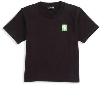 Balenciaga Little Kid's Eco Logo T-Shirt