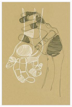 Jonathan Bass Studio Palm Reader 1, Decorative Framed Hand Embellished