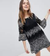 Uttam Boutique Petite Lace Printed Dress