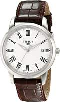 Tissot Men's T0334101601300 T-Classic Dream Dial Brown Leather Strap Watch