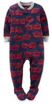 Carter's Size 2T Zip-Front Firetruck Footed Pajama