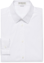 Balenciaga Men's Spread Collar Buttoned Dress Shirt