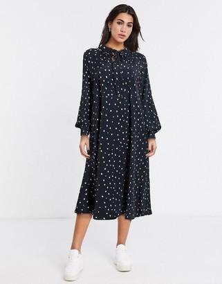 Vila oversized smock dress in black