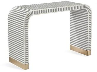 """Interlude Beacon 44"""" Console Table Color: Gray"""