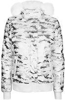 Topshop sno **foil camo ski jacket