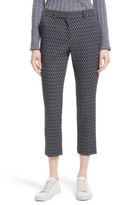 Theory Women's Treeca 2 Geo Jacquard Stretch Crop Pants